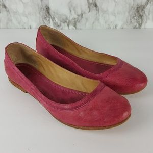 Frye Carson Ballet Red Leather Flats 8.5 3F72